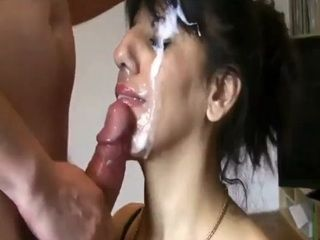 Hot Brunette Milf Gets A Massive Facial Cumshot