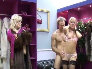 Cindy Behr and Syren Sexton are out shopping for some shoes and fur when they came across this dirty salesman