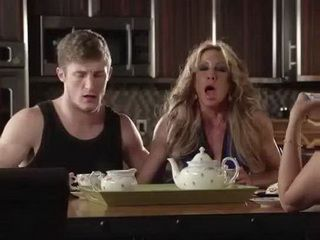 Only This Milf And Her Stepson Knows Whats Going On Under The Table