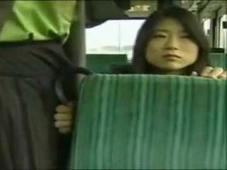 Two Horny Japanese Girl Groping Their Pussies In The Middle Of The Bus