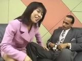 Japanese Reporter Swallows Cum For An Interview