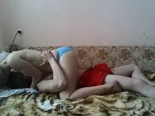 Gorgeous Russian Teen Couple Making Sex Tape For The First Time
