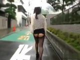 Japanese Teen Showing Her Tight Ass In Public