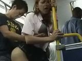 Blonde Schoolgirl Groped And Fucked In The Bus