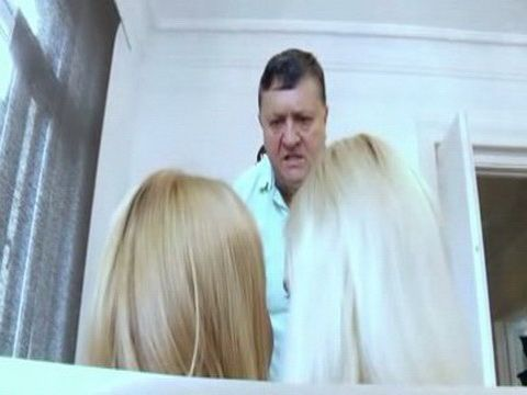 Angry StepFather Punishes Badly Two Naughty Young Blondies
