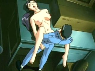Japanese anime hot fucking in the office