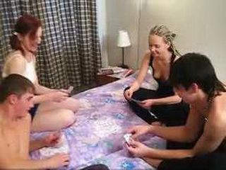 Strip Poker Ends With College Orgy