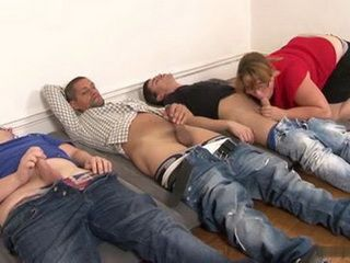 Mature Chubby Busty Aunty Loves To Be Gangbang By Bunch Of Drunken Lads
