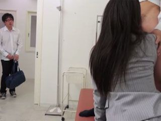 Student Caught His Friend And Teacher Fucking In The School Ambulance - Yuki Love
