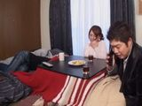 While Cuckold Husband Held Businesslike Conversation Slutty Wife Sucked His Best Friend Cock