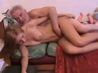 Granddad Gives To His Not Granddaughter His Old Wrinkled Cock