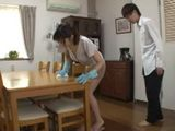 Pushy Boss Made His Maid To Clean While He Fucking Her