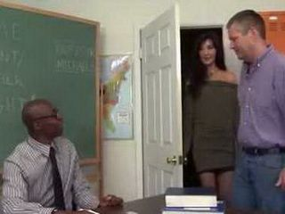 Horny Teacher And Slutty Mom Did It Samelessly In Front This Loser Of Her Husband To Give Him A Lesson In Fucking