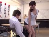 Hot Teacher In Leather Skirt Saducing Young Boys In School - Kijima Airi
