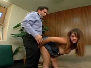 Horny Boss Gets Into His Busty Secretary Hotel Room To Fuck Her Hard
