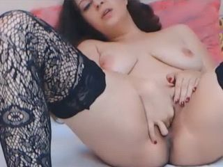 Beautiful Babe Pussy Masturbation in Stockings