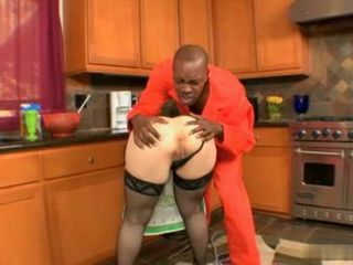 Burglar Convict Get In Hot Milf House And Raze Her Tight Ass
