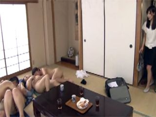 Boss s Son And His Friend Make Orgy Party With Chubby Busty Mature Maids
