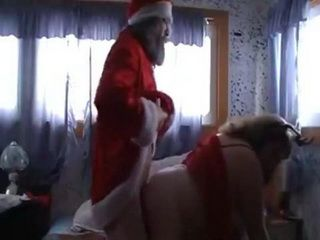 Santa Claus Has Quickie With His Fat Santa Helper