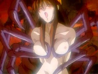 Japanese Anime Gets Squeezed Her Tits And Drilled By Tentacles Monster