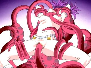 Redhead Anime Hot Drilled All Holes By Tentacles
