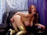 Busty Cyber Slut Shows Her Huge Boobs