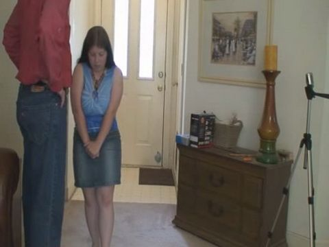 Father Punishes Daughter After School For Having Bad Grades