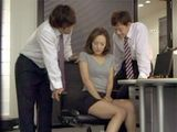 Cheating Husband At Work With Two Colleagues