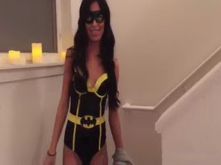 Girl Stunner In A Batgirl Costume Fucked All Over The House