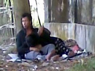 Indian Couple Doing It In Public Caught Secretly By Pervert Voyeur