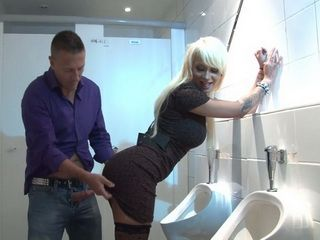 Sexy Blonde Gets Hard Fucked In Mens Toilet By Total Stranger