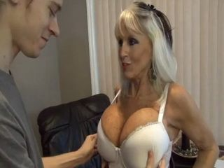 Mature Stepmom Finally Allows Me To Paly With Her New Big Boobs