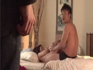 Japanese Son Caught Cousin Playing In Bed With His Young Stepmother
