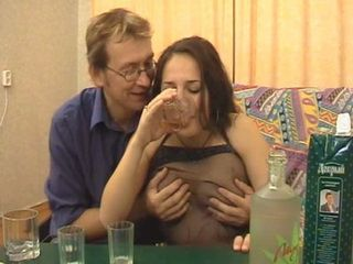 There Is Only One Reason Why Daddy Insist To Drink Alcohol With Dumb Stepdaughter