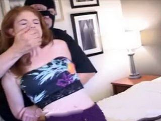 Masked Thief Put Poor Redhead On A Hard Torture