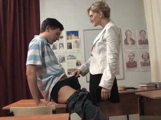 Staying After Class With Milf Teacher Finally Pays Off To Schoolboy