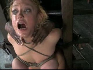 Bondage And Rough Fuck By Black Guy