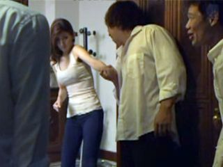 Group Of Horny Neighbors Get On Force In Milfs House And Fucking Her Hard