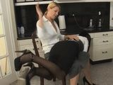 Mom spanks her Daughter over her knees