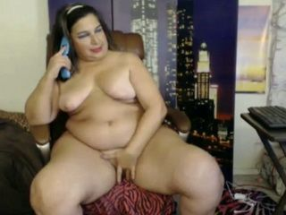 BBW Webcam Lady Drilling Her Fat Pussy Online