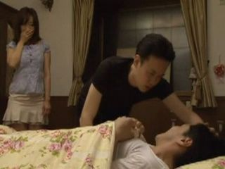 Pervert On Dying Begs Brother To Fuck Together Housekeeper Kaori As His Last Wish