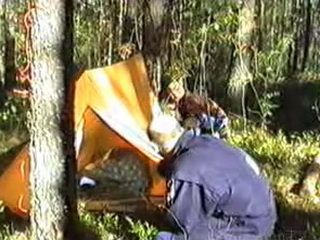 Sleeping Teen In Camp Tent All Alone In The Woods Attract Attention Of Two Drunk Hobos
