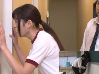 Schoolgirl Ruri Ena Busted Milf Teacher Yuno Mitsui While Getting Fucked By Teen Boy From Class