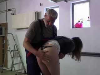 Old Nasty Stepdaddy Punished Drunk Young Stepdaughter