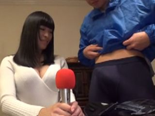 Interview Turned Into Fuck When Horny Journalist Take His Pants Down And Flashes His Cock