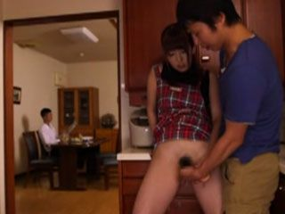 During The Dinner Rude Horny Housewife offered Guest Her Pussy As A Dessert - Yui Hatano