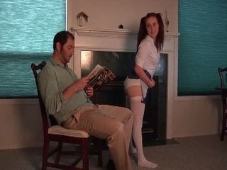 Persistent Teen Starts Behave Inappropriate Infront Of Her Stepfather