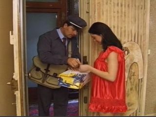 Postman With Enormously Big Dick Offers Pretty Lady More Than Just A Package