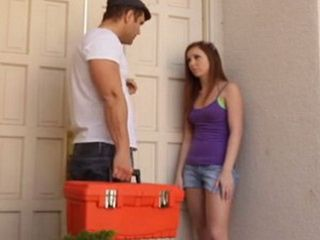 Naive Teen Shouldnt Let Inside Repairman While Being Alone At Home