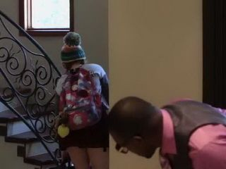 Black Stepdaddy Wants To Know What Is Under That Mini Skirt